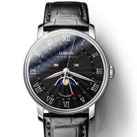 Switzerland Luxury Brand Men's Watch LOBINNI Watch Men Sapphire Waterproof Moon Phase reloj hombre Japan Miyota Movement L3603M5