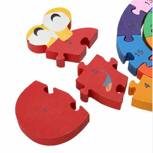 FlyingTown Brain Game Educational Toys Kids Winding Snail Wooden Toys Wood Kids 3d Puzzle Wood Madeira Kids Jjigsaw Puzzles in Blocks from Toys Hobbies