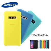 Coque S10 d'origine Samsung Galaxy S10 Plus/S10e housse Silicone soyeuse coque de protection arrière souple au toucher de haute qualité S 10 + S10 E