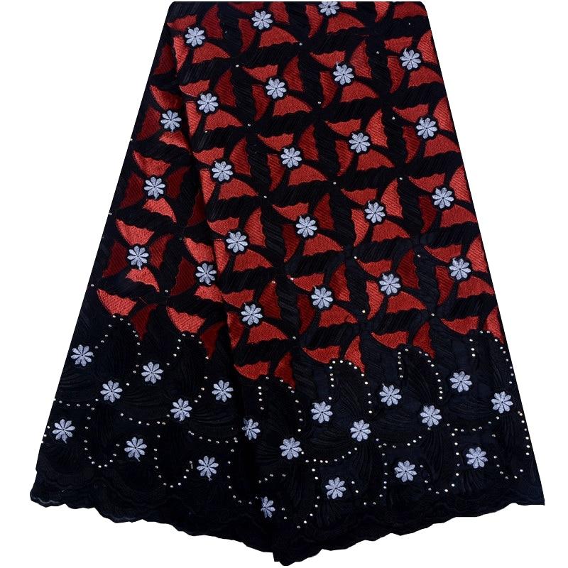 Szwajcarski koronkowy woal w Szwajcarii haftowane bawełniane koronki tkaniny wysokiej klasy koronka african voile tkaniny na sukienka na imprezę A1047 w Koronka od Dom i ogród na  Grupa 1