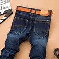 2016 Nueva Moda SuLee Hombres Famosos Pantalones Vaqueros de Marca Denim Jeans de Alta calidad Barato Vaqueros Staright Corte estándar de Color Azul Más El Tamaño 40