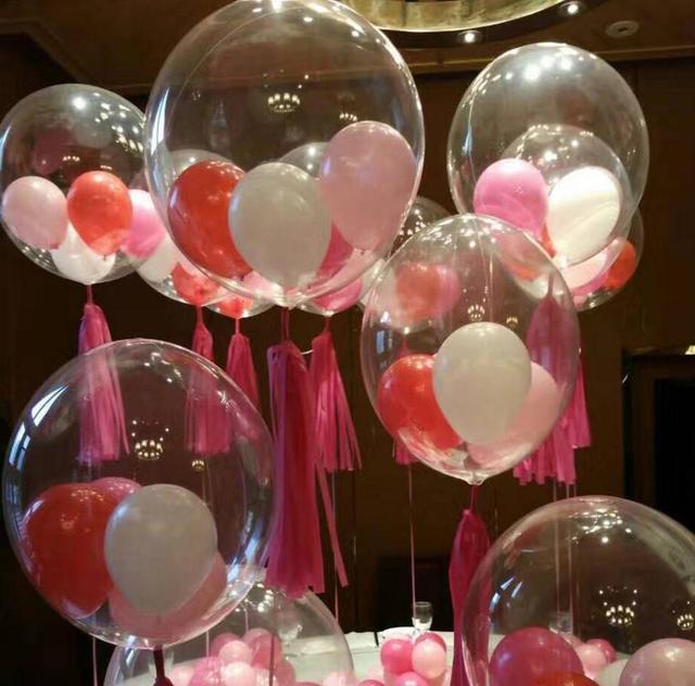36 Zoll Bobo Blase Klar Luftballons Hochzeit Weihnachten