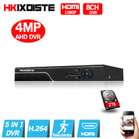 5 In 1 Security CCTV DVR 8CH AHD 4MP 3MP 1080P H 264 Hybrid Video Recorder