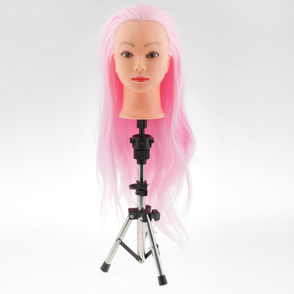 Heavy Duty Stainless Steel Cosmetology Hair Dressing Salon Wigs Mannequin Manikin Practice Head Holder Tripod Stand