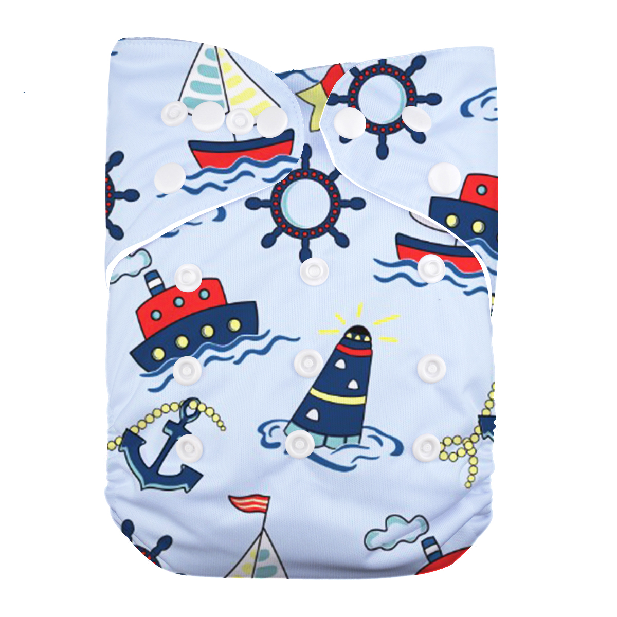 LilBit New Baby Washable Cloth Diaper Cover Cartoon Animal Adjustable Nappy Reusable Cloth Diapers Available 0-2years 3-13kg