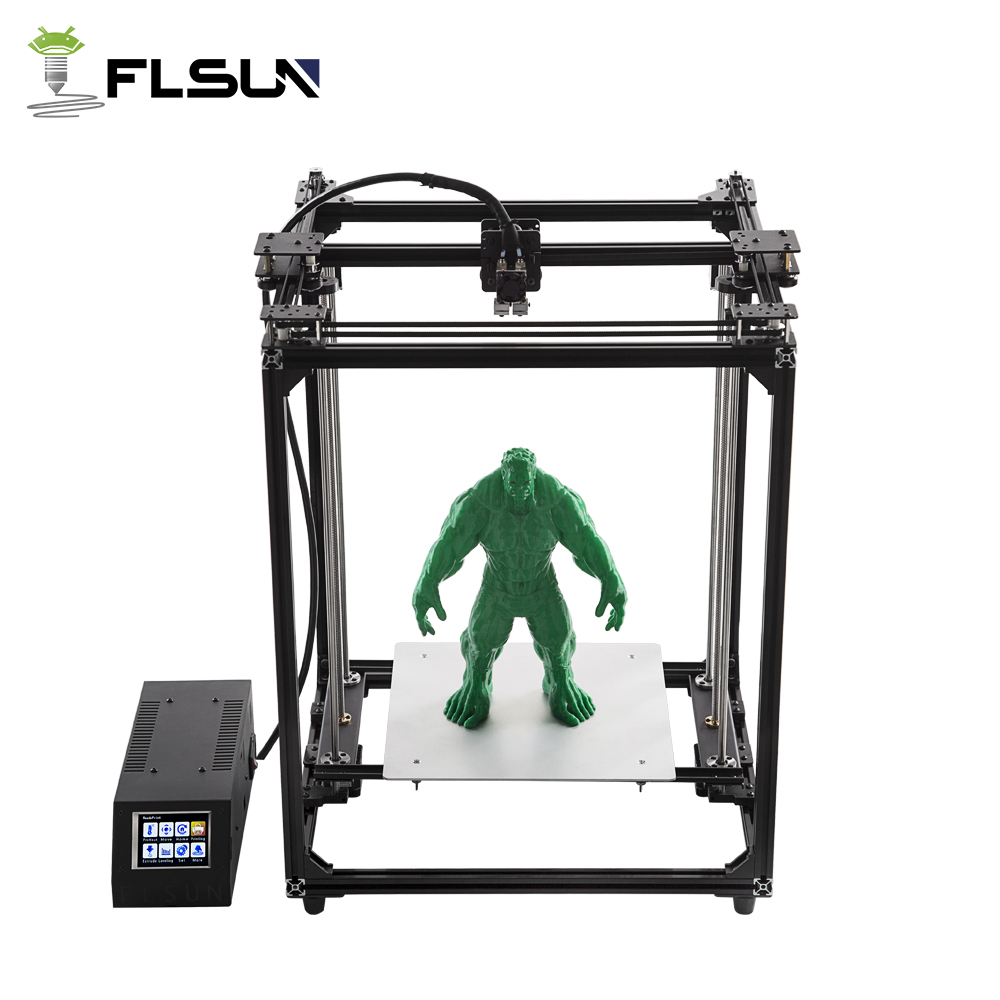 Flsun Pre-sales 3D Printer Large Printing Area 320*320*460mm Dual Extruder Touch Screen Wifi Moduel Auto Leveling 2018 flsun i3 3d printer diy kit dual nozzle touch screen large printing size 300 300 420mm two roll filament for gift