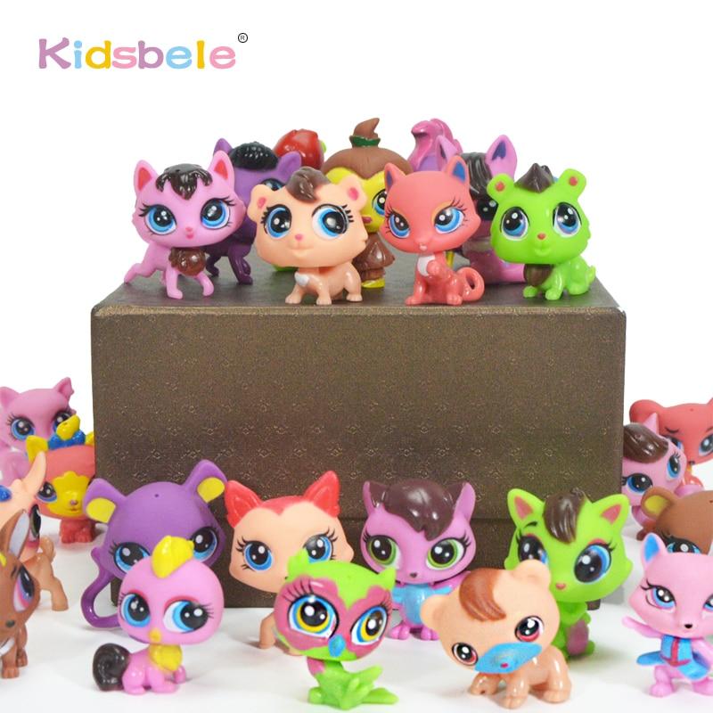 10PCS/Set Anime Littlest Action Figure Toy For Kids Pet Cat Dog Story Toy Animal Model Figurines Shop For Girl Child Loose Pet Car phone