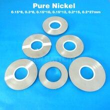 Tira de níquel de batería de iones de litio 18650x0,15, 3x8/0, 15x8/0, 15x10/0, 2x12/0, 2x27mm, correa de níquel de batería de ion de litio de Tira de níquel puro