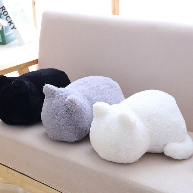 1 pcs 11 polegadas Passar o engraçado que você deseja manter uma boneca do gato deitado na parte de trás do gato de brinquedo de pelúcia bonito boneca do gato solitário