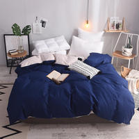 Quality 1pcs Twin Full Queen King Size 100% Cotton Duvet Cover Solid Color Comforter Cover Duble Side Can Be Used Free Shipping