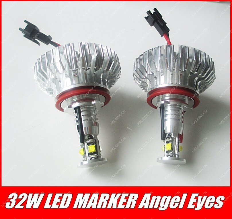 one pair  CREE LED Marker Angel Eyes case for BMW E92 H8 Plug and Play No Error BD-LA-006 32W 1A FREESHIPPING GGG h8 2x30w led angel eyes for bmw e92 led marker 2 pcs headlight error free best quality new