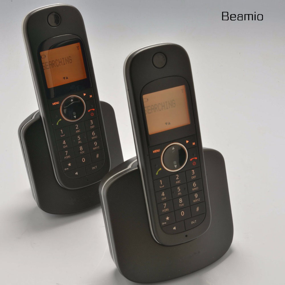2pcs Handsets Call ID DECT Digital Wireless US Version 2.4G D10 Digital Cordless Telephone For Home Office Black
