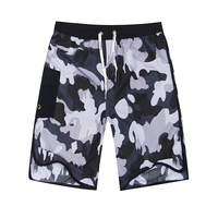 FORERUN Gray Camouflage Summer Beach Shorts Casual Bermuda Knee Length Easy Drying Holiday Shorts Homme With