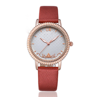 2018 Women Rhinestone Watches Lady Rotation Dress Watch brand Real Leather Band Big Dial Bracelet Wristwatch Crystal Watch