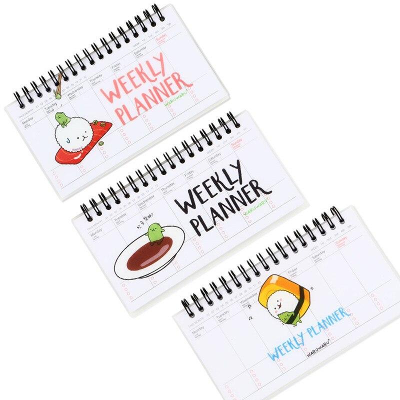 Office & School Supplies 2019 Neuer Stil Nette Blume Planer Notebook Notizblock Wöchentlich Plan Tagebuch Kalender Schüler Zeitplan Wöchentlich Zeitplan Journal Koreanische Schreibwaren Reine WeißE