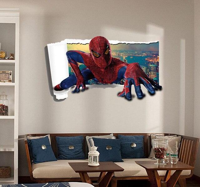 Spiderman 3d pegatinas de pared grandes comercio individuo for Pegatinas 3d pared