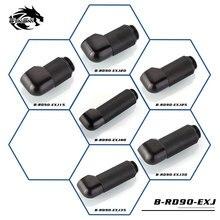 Bykski 90 на 360 градусов вращающийся фитинг удлинитель Локоть мужчин и женщин черный/серебристый 15-40 мм B-RD90-EXJ