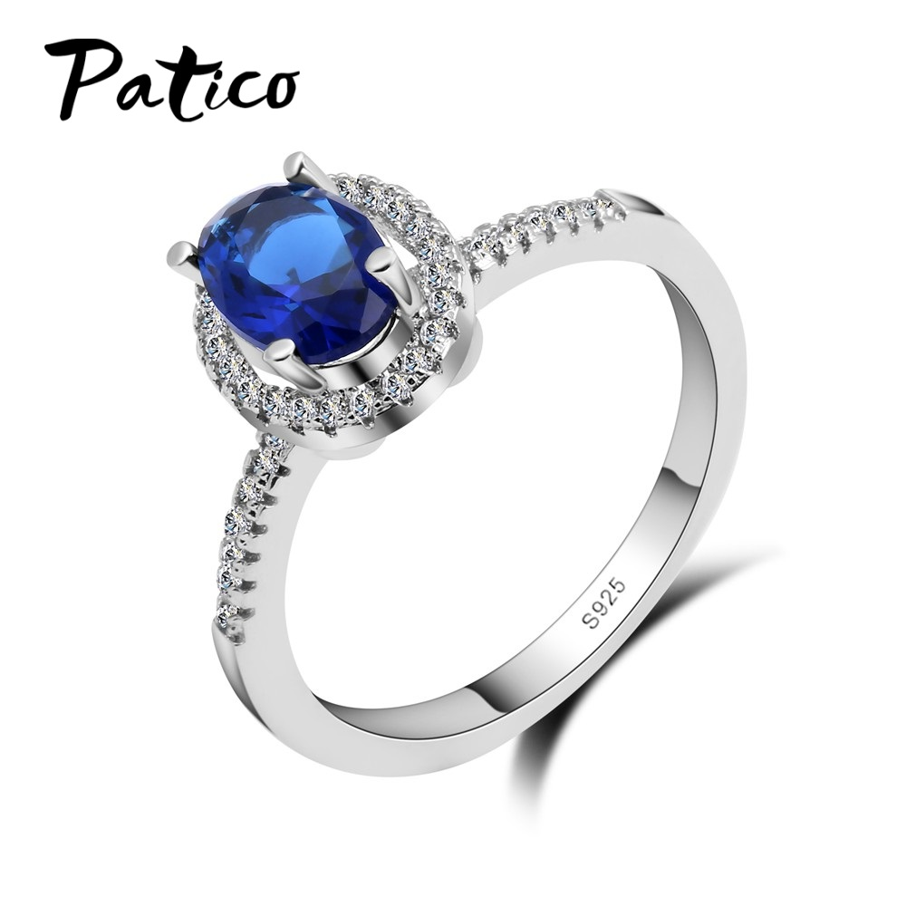 PATICO Lady Style Luxury CZ Finger Ring Full Sizes 925 Sterling Silver Wedding Jewelry For Women Birthday Party Wholesale Top