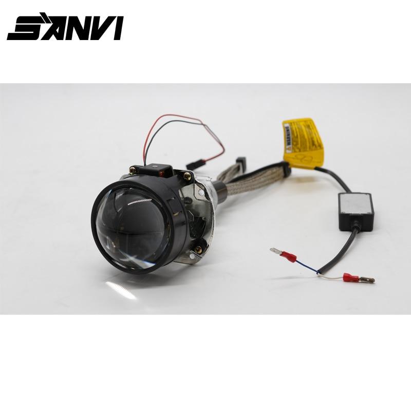 sanvi bi led projector lens headlight h1 4800lm 6000k auto. Black Bedroom Furniture Sets. Home Design Ideas