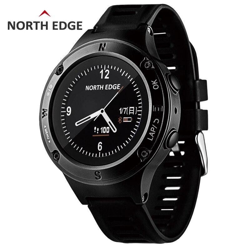 NORTH EDGE montre de sport GPS pour hommes montres numériques résistantes à l'eau fréquence cardiaque militaire altimètre baromètre boussole heures de course - 2