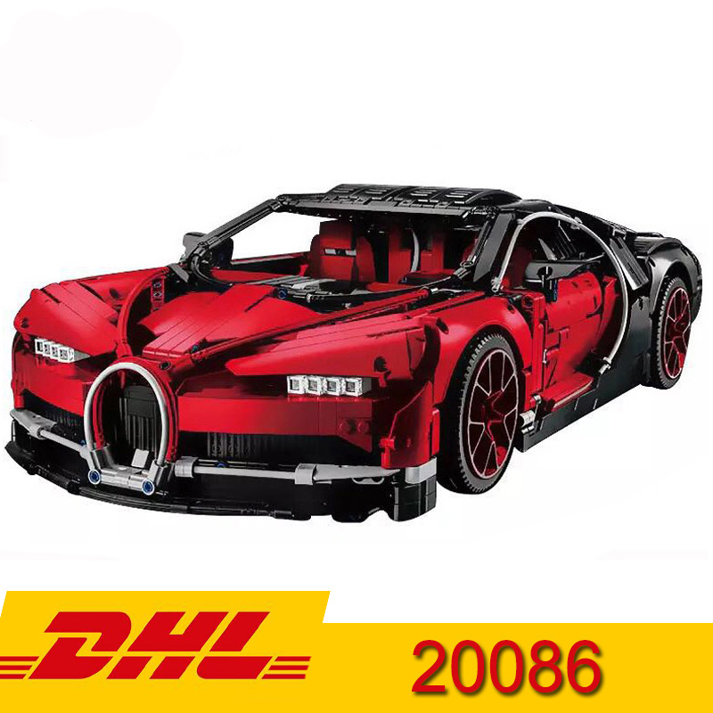 20086B Technic Bugatti Chiron Red Racing car Set Building Blocks Toys 4031 PCS