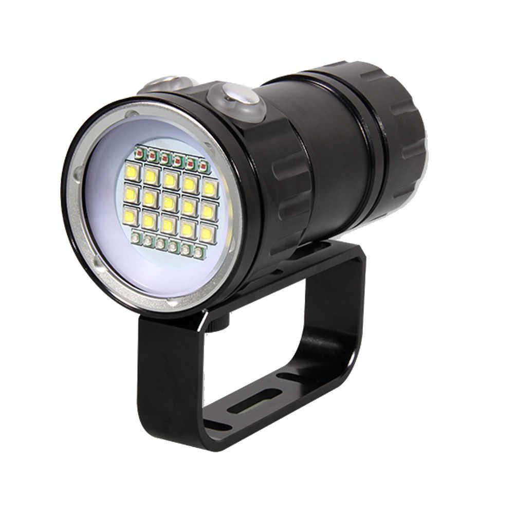 80 м светодиодный фонарик для дайвинга фотосъемки подводный IPX8 водонепроницаемый