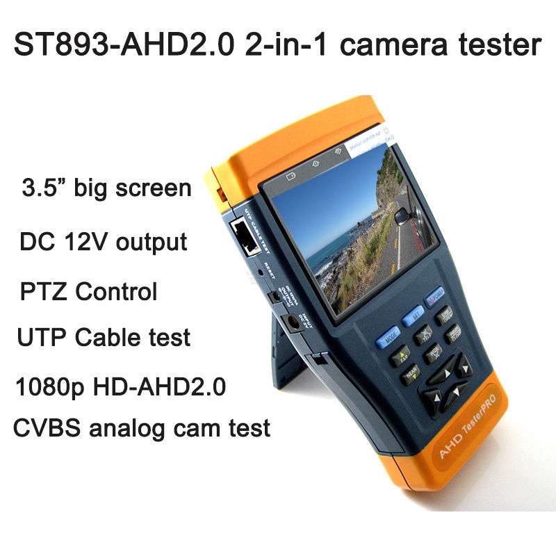 Free shipping!3.5 Professional 1080p HD AHD CCTV Camera Test PTZ Control 12V Output UTP Cable тумбочка эдем 0 3
