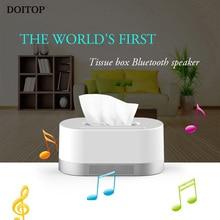 DOITOP Wireless Bluetooth Tissue Box Type 3D Surround Speaker Hifi Stereo Music Subwoofer Loudspeaker Speaker Support TF card