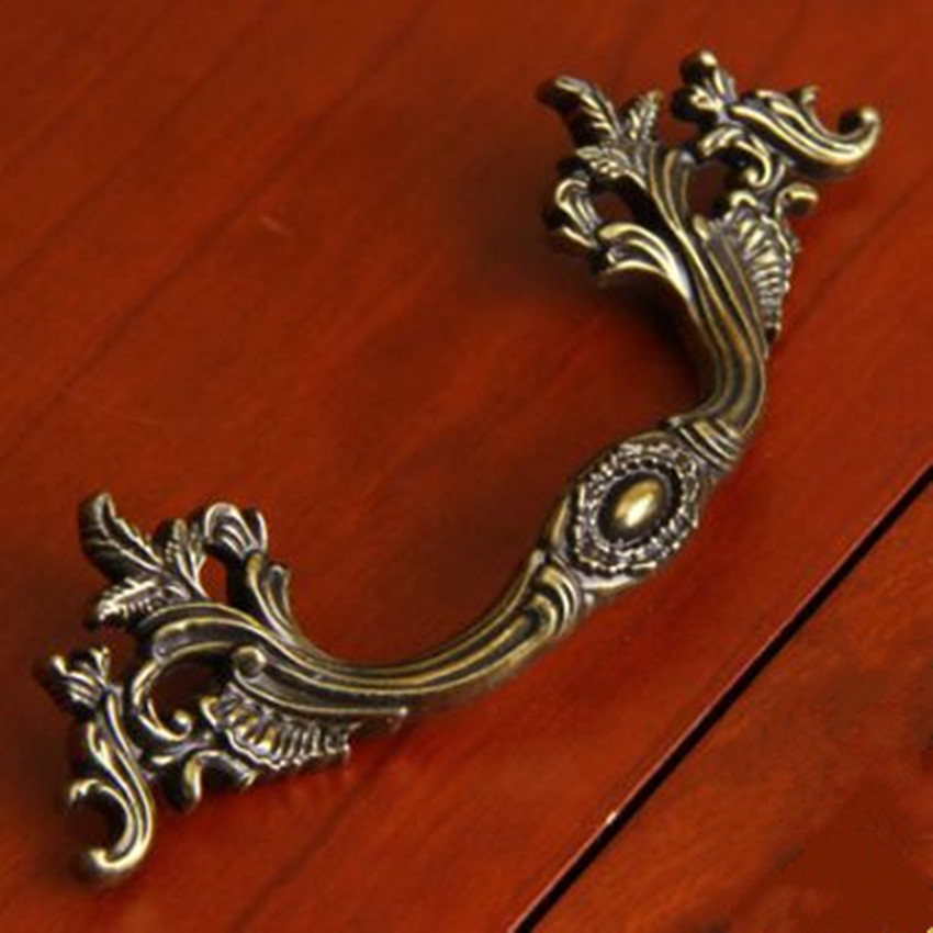 96mm 64mm europen vintage furniture handles bronze drawer cabinet pull knob antique brass dresser cupboard door handle pull 2.5 64mm antique silver drawer cabinet pull knob 96mm vintage dirstress silver dresser door handle europen retro furniture handles