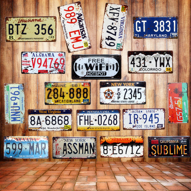 19 Styles Vintage Garage Poster Car Plate Metal Tin Signs Wall Art Painting Iron Craft Home Bar Decor Gift for Dropshipping N074