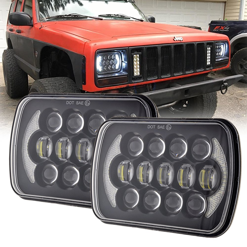 Rectangular 5x7'' headlamp 6X7 inch High /Low beam projector led headlight for Jeep Wrangler YJ Cherokee XJ Trucks 4X4 Offroad