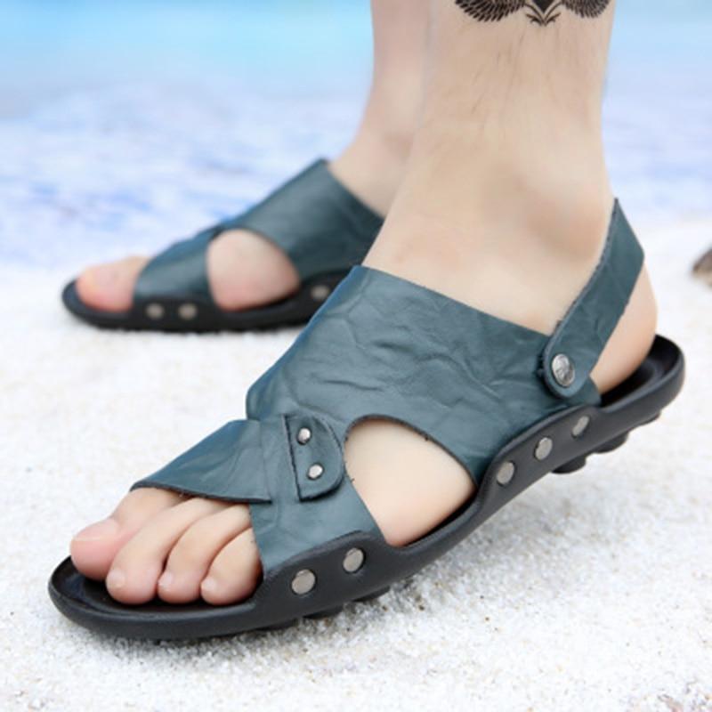 Mens Summer Shoes Sandals New Breathable Men Light Casual Beach Men Sandals High Quality Fashion Slides Sandalias Hombre