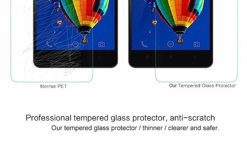 2.5D กระจกนิรภัยป้องกันหน้าจอสำหรับ Lenovo A328 Z2 Pro P90 K80 K50 T5 K4 K5 หมายเหตุ Vibe Shot Z90 หน้าจอป้องกันฟิล์ม