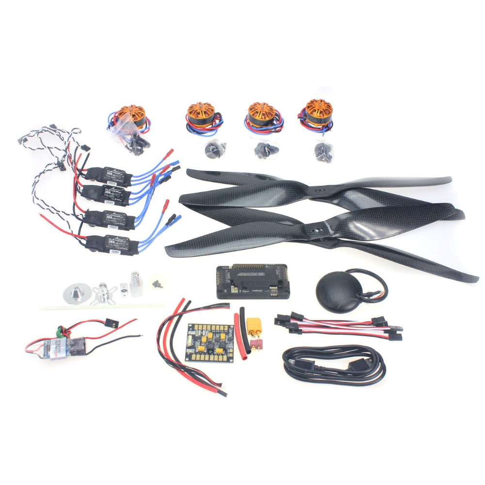 F15276-D DIY Spare kit : Motor + ESC + Props + APM2.8 + GPS for 650 4-Aix RC Drone Quadcopter Hexacopter Multi-Rotor Aircraft spare htirc dragonfly 20a brushless esc for qav250 280 h250 330 multi rotor rc hobby