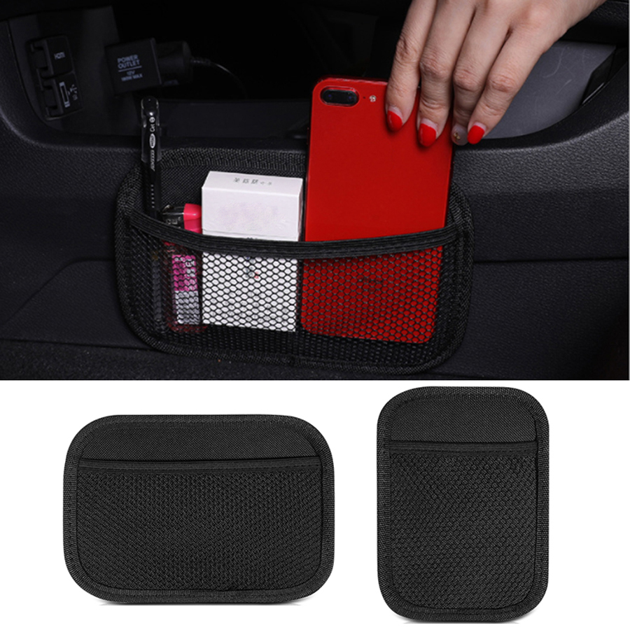 YCCPAUTO 1Pcs Universal Car Storage Bag Net Pocket Car Seat Organizer Mesh Bag Truck SUV Auto Interior Accessories