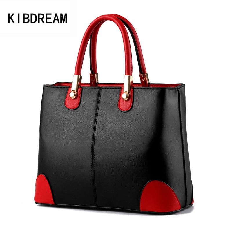KIBDREAM 2016 High Quality Women Shoulder Bag Messenger Bags Women Famous Brand Designer Leather Handbags Ladies Fashion Tote