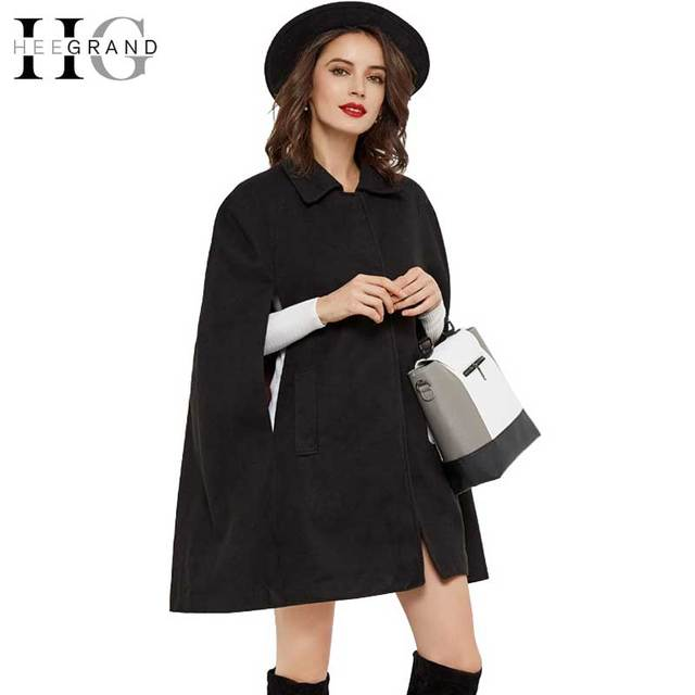 magasin en ligne 3e2d6 a0c7a US $30.59 49% OFF|HEE GRAND Manteau Femme Bat Sleeved Abrigos Mujer Covered  Button Autumn Trench Women Turn down Collar Long Trench Coats WWD296-in ...