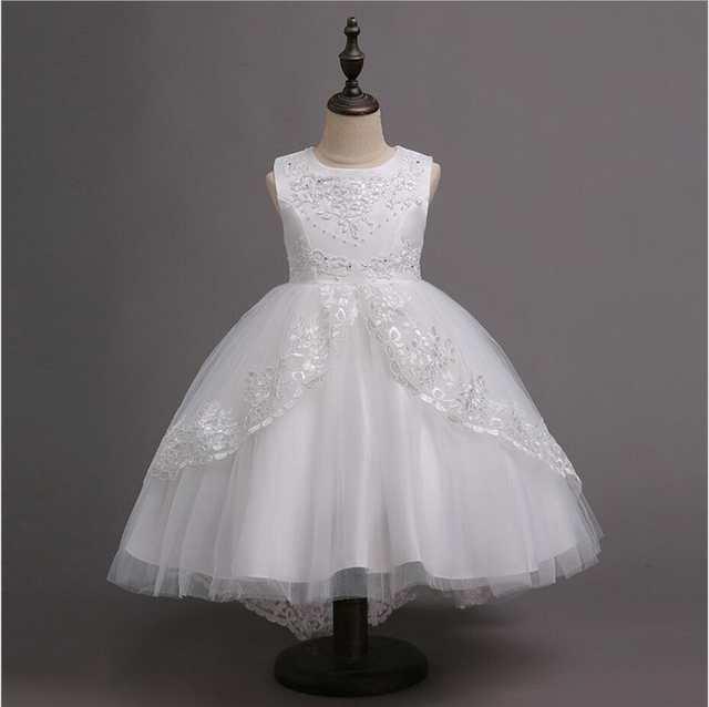 41315bb3662b placeholder Girls Dress Formal Kids Flower Dresses Appliques Sleeveless  Children Prom Ball Gowns Baby Wedding Party Frocks