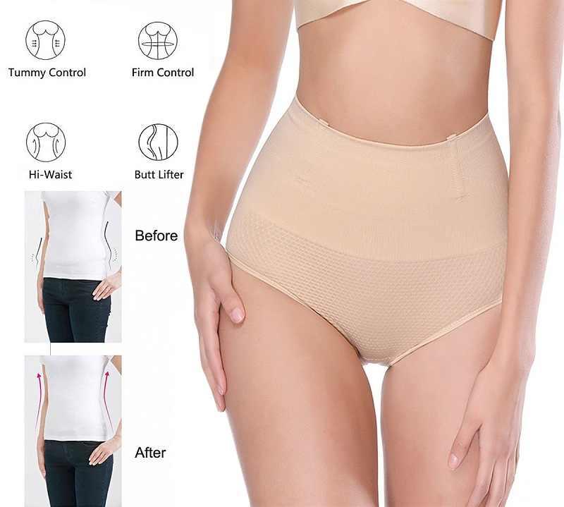 956b300333 ... NINGMI Women Big Ass Control Panties Pad Hip Enhancer Mid Waist Trainer  Pulling Underwear Body Shaper ...