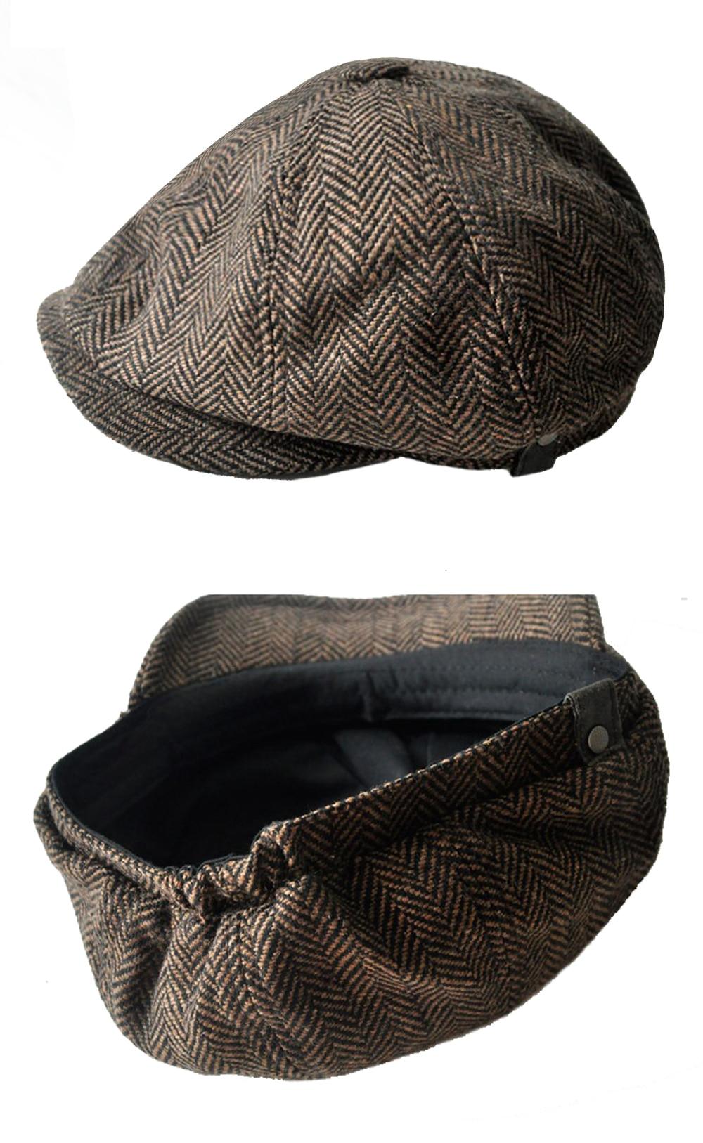 Newsboy Flat Cap - Wool Blend Newsboy Hat