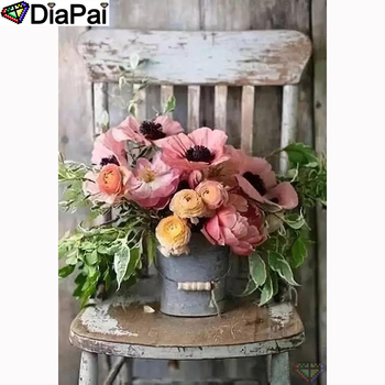 "DIAPAI 100% Full Square/Round Drill 5D DIY Diamond Painting ""Flower chair"" Diamond Embroidery Cross Stitch 3D Decor A21561"