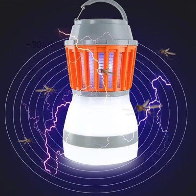 USB Mosquito killer Led Caming Lamp light Hiking Tent Portable Led Flashlight Lantern woking light