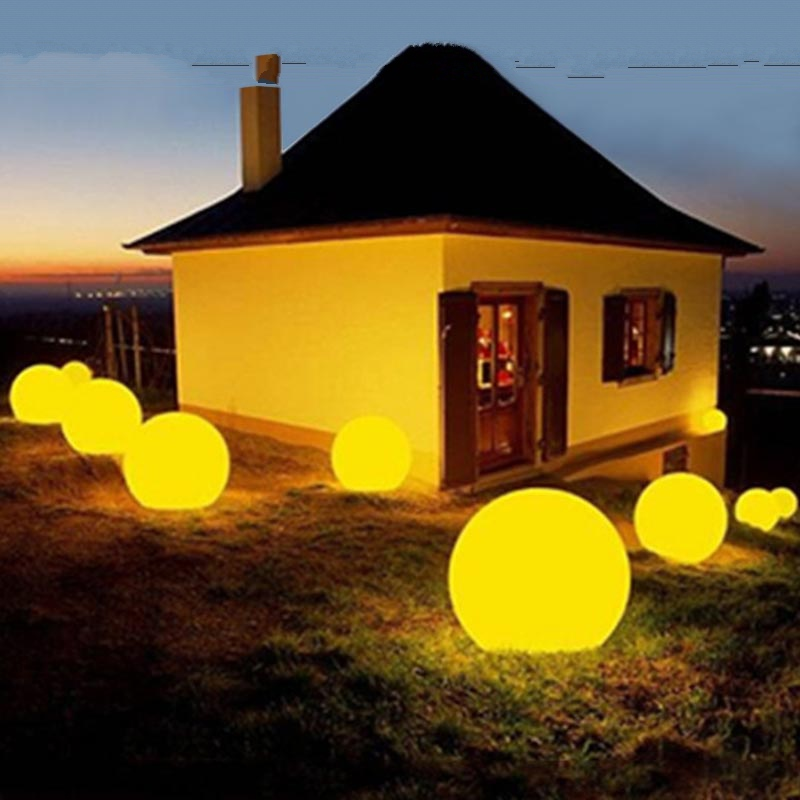 Remote Control LED Ball Lawn Moon Light Rechargeable Garland Waterproof Outdoor Garden Pool Landscape Lamp Wedding Party Decor