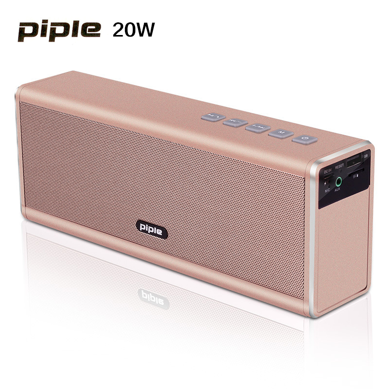 20W Metal Speaker Bluetooth 4000mah Bateri boleh dicas semula Portable Super Bass Wireless Loud Speaker Dengan Radio FM
