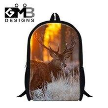 Elk 3D Printed school backpacks for elementary students,animal children school bag for girls,women's back pack stylish mochilas