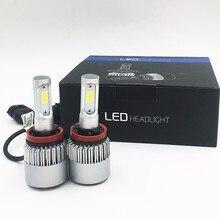 Фотография 2X S2 H11 COB LED Car Headlight Bulb Beam 72W 8000LM 6500K WHITE LIGHT Auto Headlamp 12v 24v