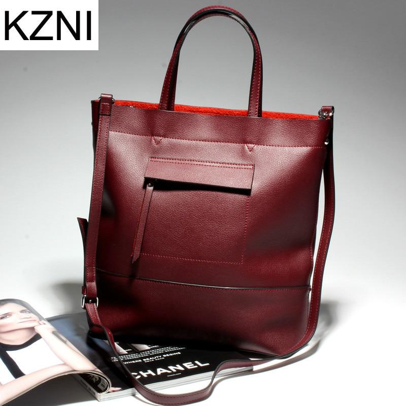 KZNI genuine leather crossbody bags for women shoulder bag designer chain bag bolsas femininas bolsas de marcas famosas L123105