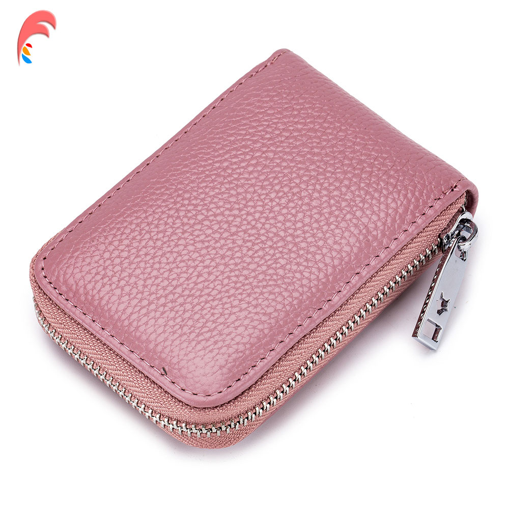 7e1b6ac0ab8f US $4.9 46% OFF|YOJESSY Genuine Leather Unisex Business Card Holder Wallet  Female Small Women Purse Bank Credit Card Case ID Holders Rfid Wallet-in ...