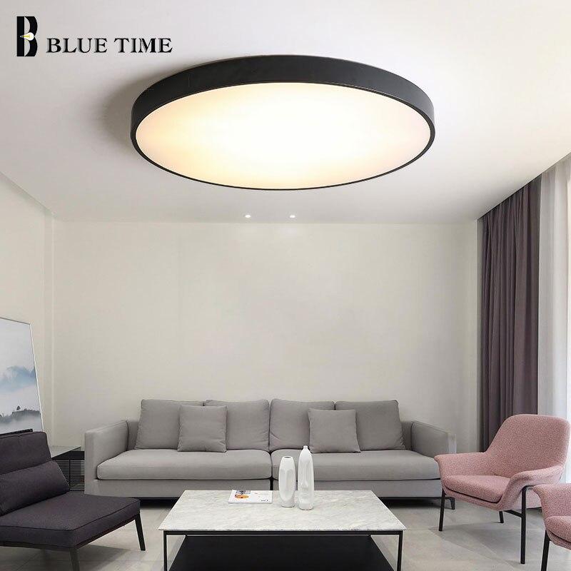 Metall Moderne Led-deckenleuchte Schwarz & Weiß Einfache Led Kronleuchter Decken Lampe Für wohnzimmer Schlafzimmer esszimmer Licht leuchten