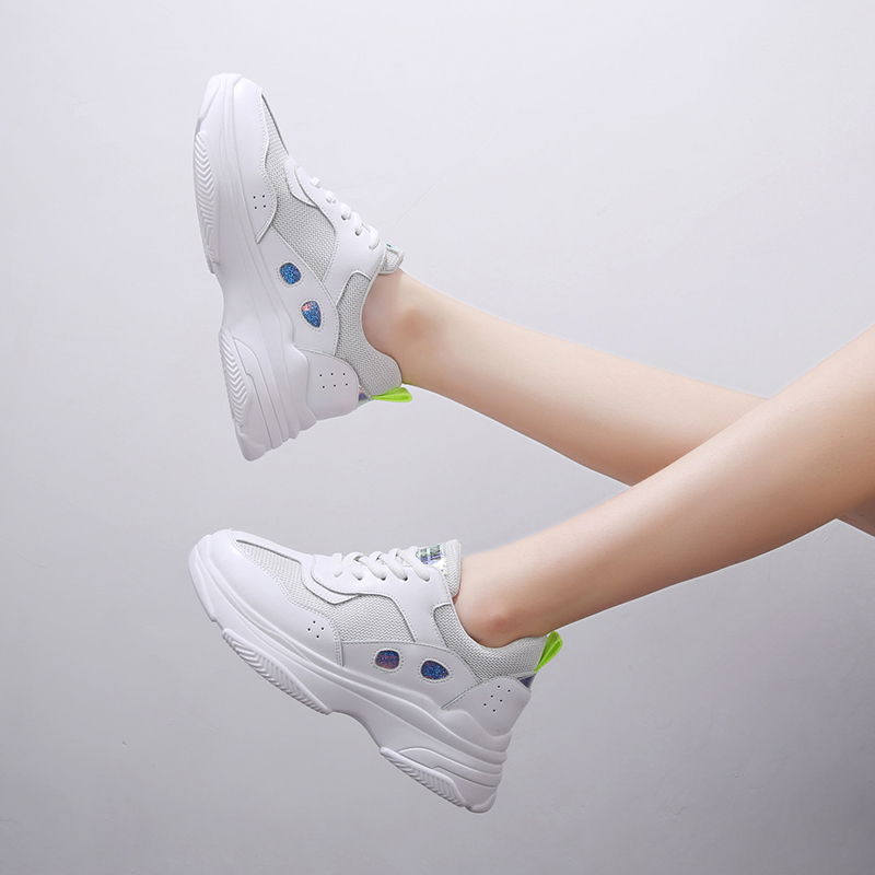 Liren 2019 Summer New Air Mesh Lace up Casual Women Sneakers Fashion Breathable Non slip for Sport Women Shoes Size 35 40 in Women 39 s Vulcanize Shoes from Shoes